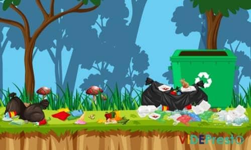 déchets sauvages